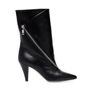 Givenchy Zip-Detail 90 mm Leather Ankle Boots NWOT